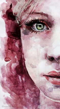 I really like this painting. I thought about drawing and painting this picture someday. Watercolor Face, Watercolor Portraits, Watercolor Paintings, Watercolor Trees, Watercolor Landscape, Watercolors, Watercolor Artists, Abstract Paintings, Oil Paintings