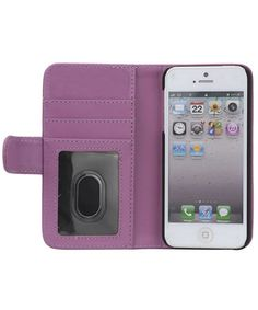 iPhone 5 / 5S Portemonnee Flip Case Paars