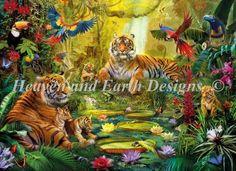 Tiger Family in the Jungle max colors- Jan Patrik Krasny