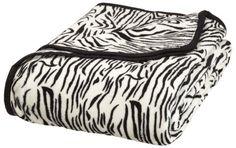 Elite Home All Seasons Collection Micro Fleece Plush Animal Print F/Q Blanket, Zebra Zebra Print Bedding, Awesome Bedrooms, Bedroom Fun, Bedroom Ideas, Fuzzy Blanket, Memory Foam Mattress Topper, Adjustable Beds, Plush Animals, Zebras