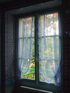 View of the outside from inside famous painter Claude Monet's house.  Giverny, France.
