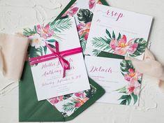 Tropical Wedding Invitations - Destination Wedding Invitations - Beach Wedding Invitations - Wedding Invitations - Invitation Suite
