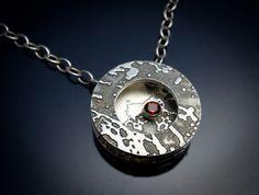 Denise Harrison - sterling silver pendant Metal Jewelry, Metal Art, Sterling Silver Pendants, Portland, Washer Necklace, Contemporary Art, Bronze, Gemstones, Spring