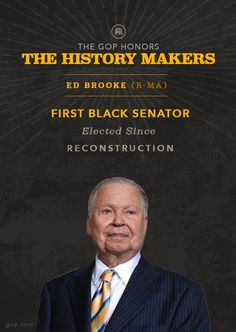 Senator Brooke was not only a trailblazing Republican but also a history-making American. Learn more about his legacy.