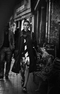 Rooney Mara by Peter Lindbergh for Interview Magazine November 2015 - Miu Miu Resort 2016 dress