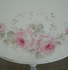 Detail shot of the demilune (half moon) table by Debi Coules.