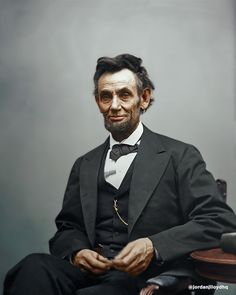 Abraham Lincoln, 1865 (colorized)