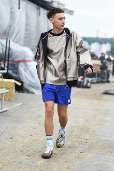 Olly Alexander of Years & Years wears Converse at Glastonbury Festival 2016 at Glastonbury Festival Site on June 26, 2016 in Glastonbury, England.