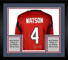 cc1359554 Framed Deshaun Watson Houston Texans Autographed Nike Red Game Jersey Reds  Game