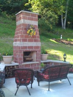 Chimney Fireplace For Backyard. This Is Exactly What I Want To Build  Outside! A Fire Chimney. Thereu0027s Storage Too!