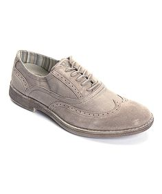 Look at this Nut Vinci Suede Oxford on #zulily today!