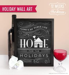 This stylish and adorable FREE Holiday Wall Art Printable will add some festive flare to your home decor.