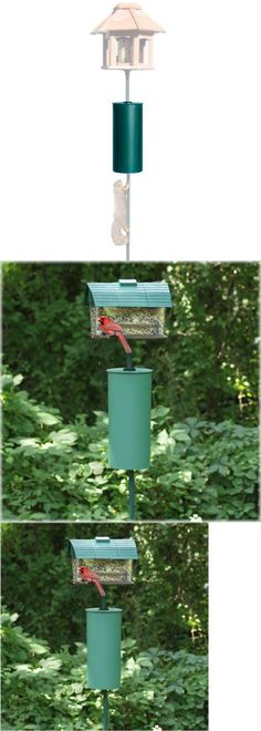 NEW PERKY PET SQUIRREL BAFFLE METAL POLE 341 DETERRENT BIRD FEEDER BIRDFEEDER