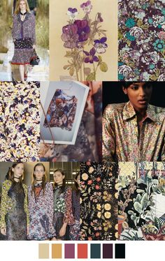 F/W 2017-18 pattern & colors trends: VICTORY GARDENS