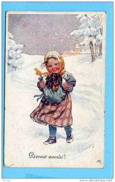 B - ILLUSTRATEUR - FEIERTAG Karl - éditeur B K W I .  2852-5 - ENFANT - CHIEN - TECKEL