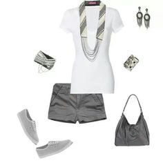 Grey and White Casual