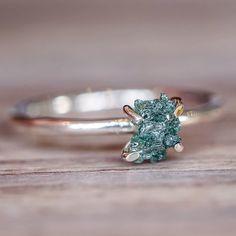 Raw Ocean Diamond Ring - www.indieandharper.com - bohemian gypsy festival jewellery boho jewelry - indie and harper