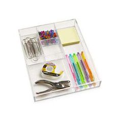 The Container Store > 5-Section Acrylic Divided Tray