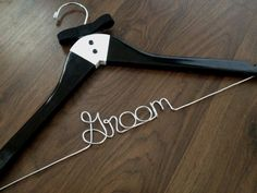 HOLIDAY SALE Tuxedo Groom Hanger, Wedding Hanger, Personalized Hanger, Name Hanger, Groom Gift, Bride Hanger