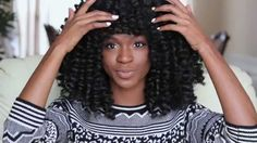 How to make a Marley/Afro twist Crochet Wig with Bangs (protective style...
