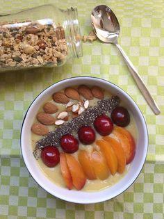 My Casual Brunch: Manhãs saudáveis: batido de pêssego, banana e anan...