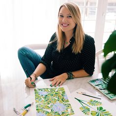 Cat Coquillette is a freelance designer, illustrator and lettering artist with an affinity towards watercolor, bright pops of color, hand-lettering and custom branding. Gold Palette, Feather Art, Practical Magic, Modern Artwork, Digital Nomad, Cat Drawing, Love Painting, Freelance Designer, Textile Design