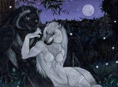 Lunar Cycle's Peak by Saoirsa on DeviantArt Anime Wolf Drawing, Werewolf Art, Anthro Furry, Anime Animals, Deviantart, Community Art, Social Community, Creature Design, Furry Art