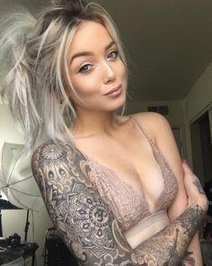 Riley Alessandra  #girl tattoos #tattoos #tattoo ideas #tattoo ink #sleeve tattoos