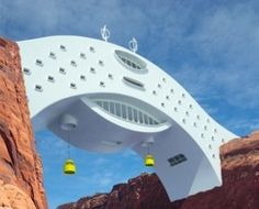 Colorado River Bridge Hotel - you can bet this building is a one of a kind - wow!