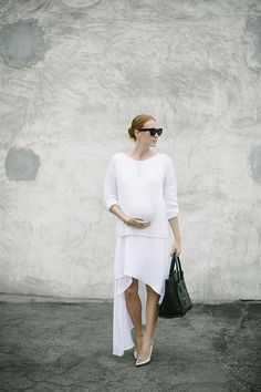 Bump in white // maternity style // Samantha Wennerstrom