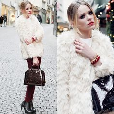 THE WHITE YETI FAUX-FUR JACKET (by Kristina Bazan)