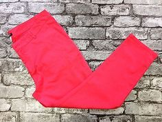 la redoute WOMANS CROPPED PINK COTTON TROUSERS SIZE 16 (w22) £9.90