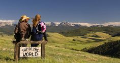 Top of the world views in Montana  - nothing to see but paradise in every direction!