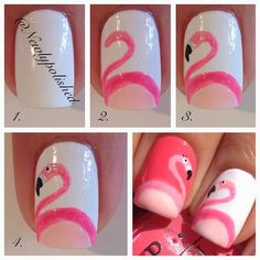 Flamingo Nail Art Tutorial  HOOPLA, here I come! @Stella Menagia Menagia Menagia Menagia Menagia & Dot #sdjoy