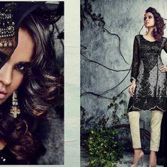 15 Black & Cream Punjabi Black Cream, Sequin Skirt, Sequins, Skirts, Fashion, Moda, Sequined Skirt, Fashion Styles, Skirt