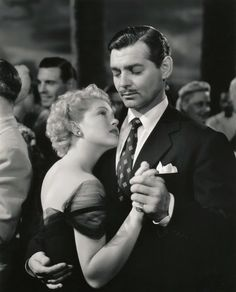 Clark Gable and Lana Turner in Somewhere I'll Find You (1942)