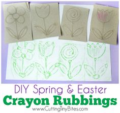 DIY Spring and Easter Crayon Rubbings Paper Crafts For Kids, Easy Crafts, Kid Crafts, Making Easter Eggs, Diy Crayons, Preschool Activities, Preschool Learning, Art Lessons Elementary, Spring Crafts