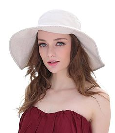 Home Prefer Women's Wide Brim Sun Bucket Hat UPF50 Beach Sun Hat Reversible