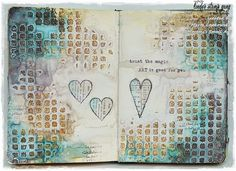 March colour challenge with Lindy's Stamp Gang