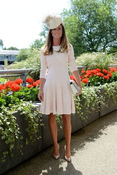 Kate Middleton in Royal Ascot outfit Mehr Ascot Dress Code, Ascot Dresses, Dress Hats, Race Day Outfits, Derby Outfits, Ascot Outfits 2017, Day At The Races Outfit, Derby Attire, Royal Ascot Ladies Day