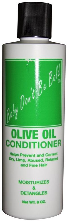 Baby Don't Be Bald Olive Oil Conditioner 8 oz. (Pack of 2) ** Check out this great article. #hairhealth