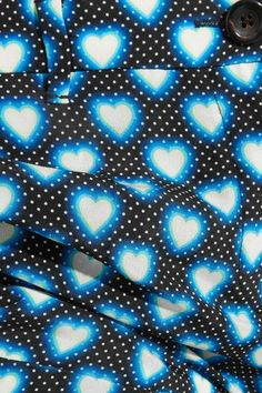 Miu Miu - Printed Silk Crepe De Chine Flared Pants - Blue - IT50