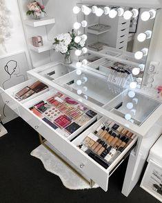 Acrylic Makeup Storage, Make Up Storage, Make Up Organiser, Lipstick Holder, Cosmetic Storage, Makeup Rooms, Beauty Room, Bath And Body, Vanities
