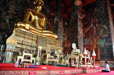 Wat Suthat -- looks like a nice quieter/less touristy temple in Bangkok