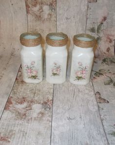 Shabby Vintage Rustic Chic Set of 3 by MotleysCollection on Etsy