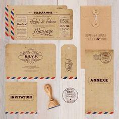 """Faire-part """"Air Mail"""" - Monsieur + Madame Shop"""