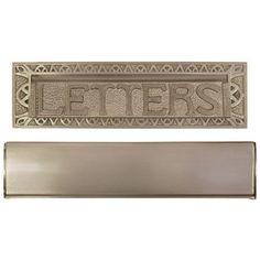"10"" Heavy Duty ""Letters"" Mail Slot - Polished Brass Signature Hardware http://www.amazon.com/dp/B003404IZQ/ref=cm_sw_r_pi_dp_zpWdvb13N0NMR"