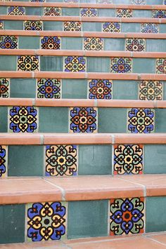 Colorful tiles are one of our favorite attributes of Spanish design.