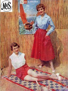 1950s pleated