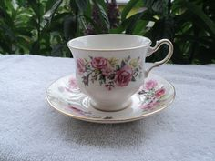 Elegant Royal Vale Footed Teacup and Saucer Bone China Made in England by Collectiblesbyaladin on Etsy
